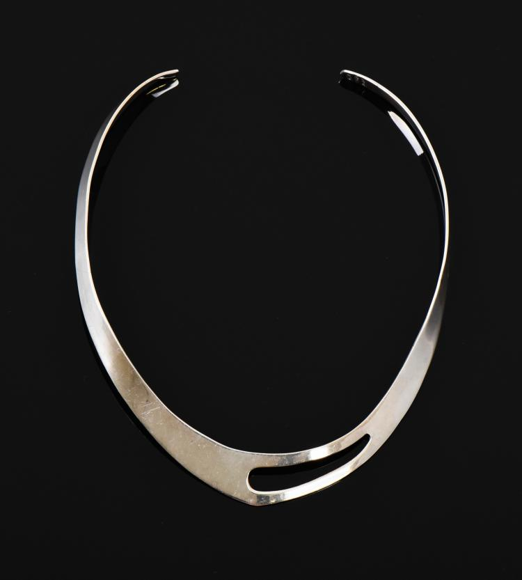Sterling Silver Designer Necklace, Mexico.  Es