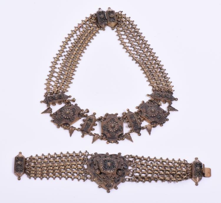 Unique And Intricate Victorian Brass Necklace