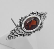 Garnet Ring - Sterling Silver #97925v2