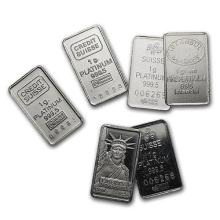 1 gram Platinum Bar - Secondary Market (.999+ Fine) ONE PIECE PER LOT #75641v3