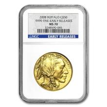 2008 1 oz Gold Buffalo MS-70 NGC (Early Releases) #75564v3