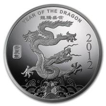 1 oz Silver Round - (2012 Year of the Dragon) #74492v3