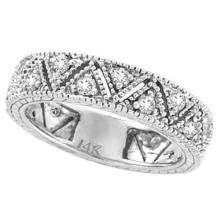 Diamond Anniversary Band 14k White Gold by Allurez (0.75 ct) #PAPPS21102