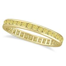 Channel Set Yellow Canary Diamond Eternity Ring 14k Yellow Gold (1.00ct) #PAPPS21159