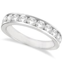 Channel-Set Round Diamond Ring Band 14k White Gold (1.25ct) #PAPPS21046
