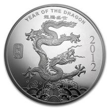10 oz Silver Round - (2012 Year of the Dragon) #74555v3