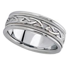 Hand Made Celtic Wedding Ring Band in Palladium (6mm) #21128v3