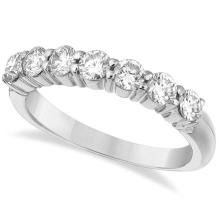 Seven-Stone Diamond Anniversary Ring Band 14k White Gold (1.00ct) #PAPPS21290