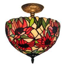 TIFFANY STYLE SUNFLOWER CEILING LAMP #10170v3
