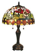 TIFFANY STYLE POPPIES TABLE LAMP 14 INCHES WIDE #99512v2