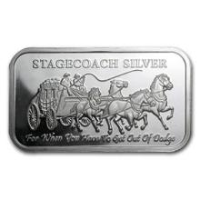 1 oz Silver Bar - Stagecoach (Fractional) #74660v3