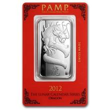 1 oz Silver Bar - PAMP Suisse (Year of the Dragon) #74746v3