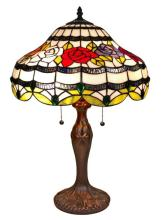 TIFFANY STYLE ROSES TABLE LAMP 24 IN #99509v2