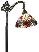 TIFFANY STYLE ROSES READING FLOOR LAMP 62 IN #99571v2