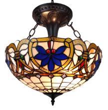 TIFFANY STYLE VICTORIAN DESIGN 2-LIGHT PENDANT LAMP #10167v3
