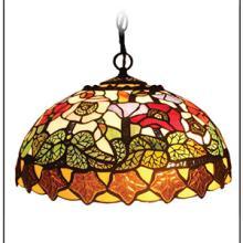 TIFFANY STYLE FLORAL DESIGN HANGING LAMP 2 LIGHT #10174v3