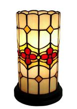 TIFFANY STYLE FLORAL MINI TABLE LAMP 10 INCHES TALL #99505v2