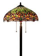 TIFFANY STYLE DRAGONFLY FLOOR LAMP 18  #99578v2