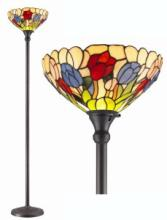 TIFFANY STYLE TULIPS TORCHIERE LAMP 70 INCHES TALL #99574v2