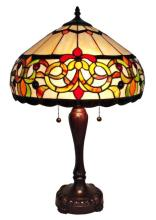 TIFFANY STYLE FLORAL TABLE LAMP 24 INCHES TALL #99511v2