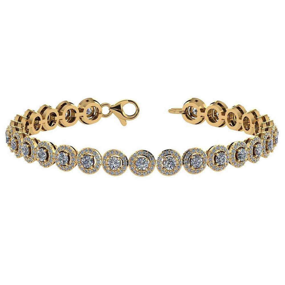 Lot 20161009: Certified 4.59 Ctw Diamond Bracelet VS/SI1 18K Yellow Gold Made In USA #PAPPS21728
