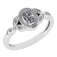 Lot 20161029: Certitifed 0.84 Ctw Diamond 14k White Gold Halo Ring #PAPPS97117