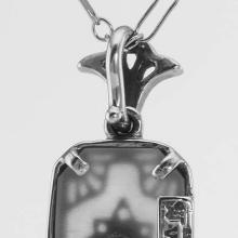 Lot 20161036: Crystal and Diamond Pendant with Chain - Sterling Silver #PAPPS97694
