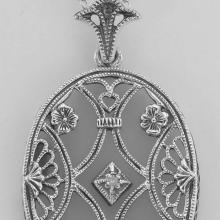 Lot 20161048: Art Deco Style Crystal Diamond Pendant with Chain - Sterling Silver #PAPPS97696