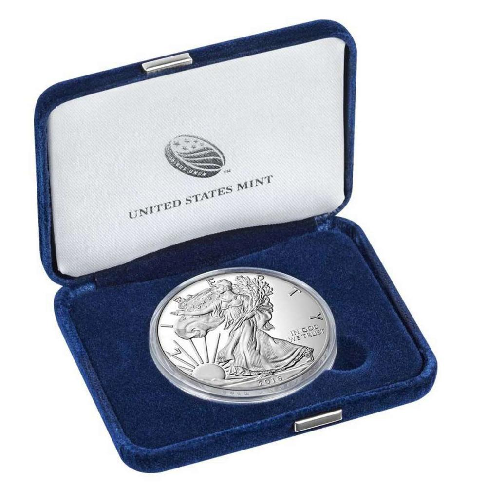 Lot 20161050: Proof Silver Eagle 2016-W #PAPPS81305
