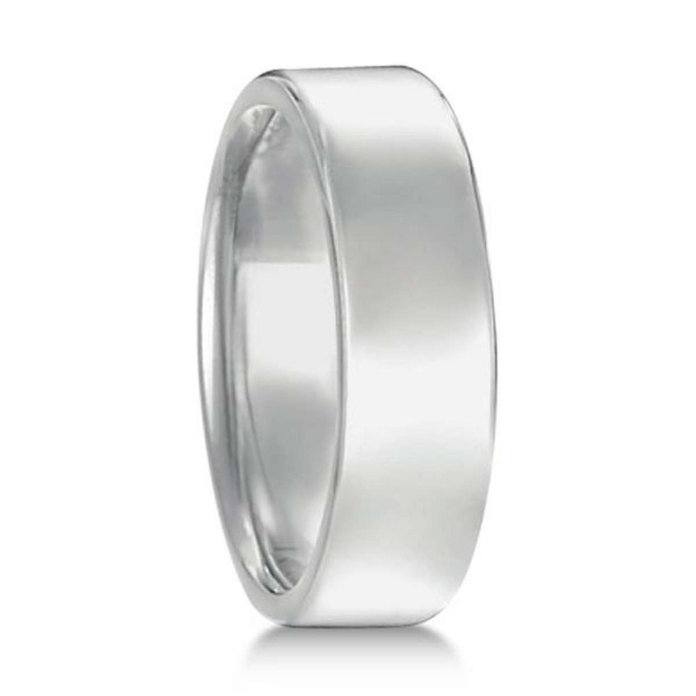 Lot 20161066: Euro Dome Comfort Fit Wedding Ring Mens Band 18k White Gold (6mm) #PAPPS20858