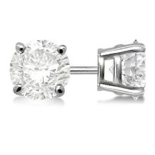 Lot 20161077: Certified 1 CTW Round Diamond Stud Earrings D/SI2 #PAPPS83901