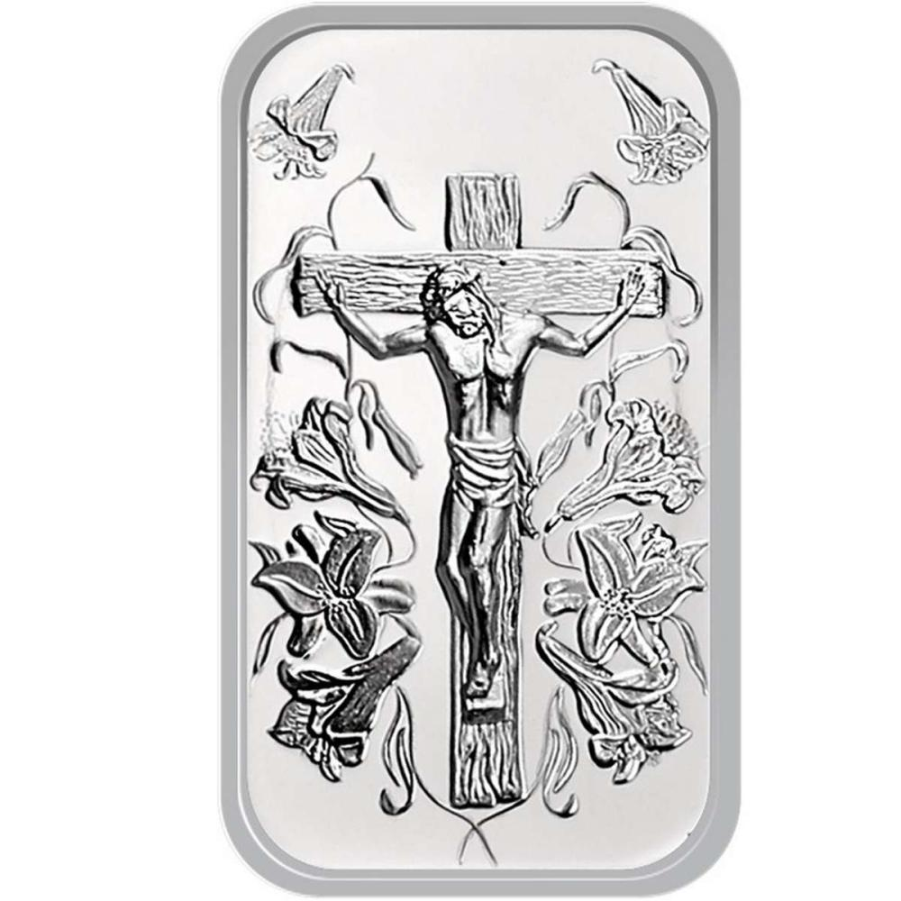Lot 20161080: Jesus .999 Silver 1 oz Bar #PAPPS81334