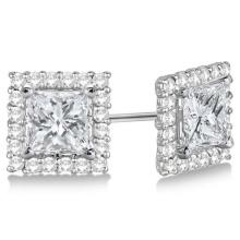 Lot 20161086: Pave-Set Square Diamond Earring Jackets 14k White Gold (0.55ct) #PAPPS20900