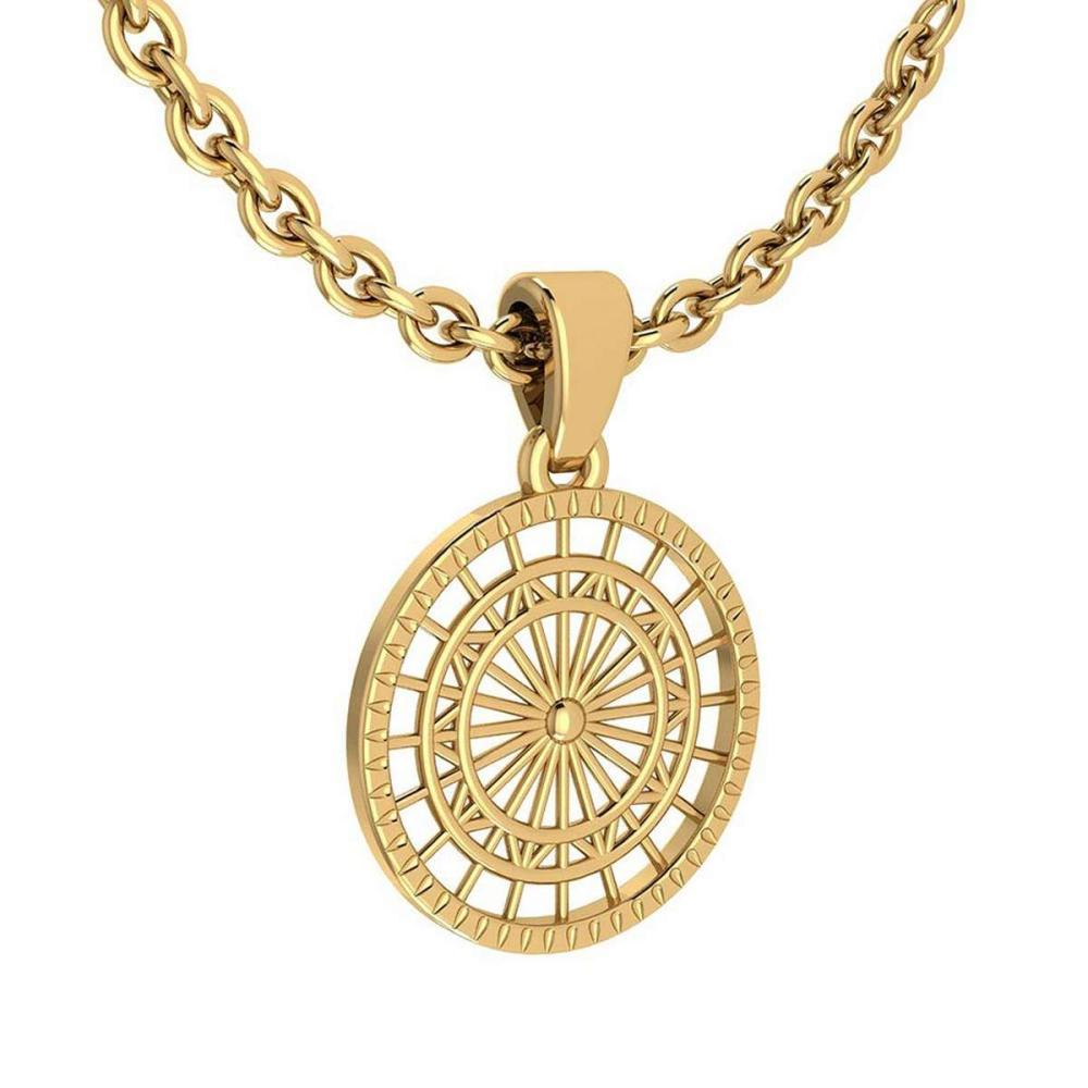 Lot 20161088: Gold Coin Style Charm Necklace 18K Yellow Gold MADE IN ITALY #PAPPS21204