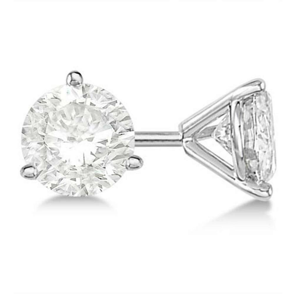 Lot 20161091: 0.75ct. 3-Prong Martini Diamond Stud Earrings 14kt White Gold (G-H VS2-SI1) #PAPPS21273