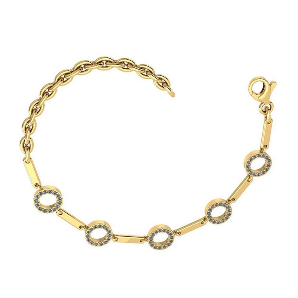 Lot 20161101: Certified 0.37 Ctw Diamond Bracelet 18K Yellow Gold Made In USA #PAPPS21743