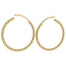 Lot 20161108: Gold Hoop Earrings 18k Yellow Gold MADE IN ITALY #PAPPS21231
