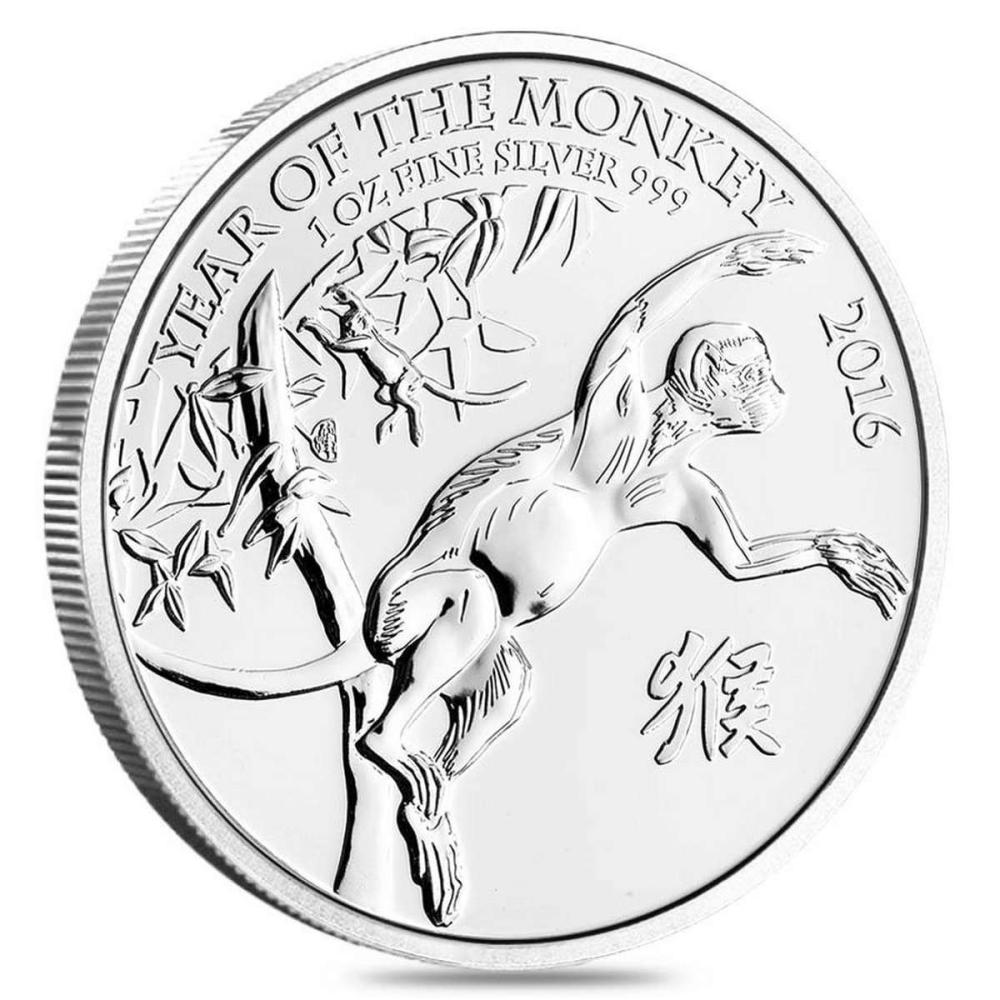 Lot 20161120: 2016 Great Britain 1 oz Silver Year of the Monkey BU #PAPPS81307