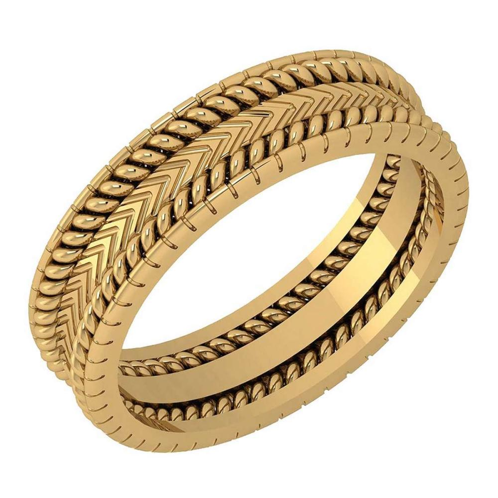 Lot 20161123: Stunning Filigree Engagement Band 18K Yellow Gold MADE IN ITALY #PAPPS21276