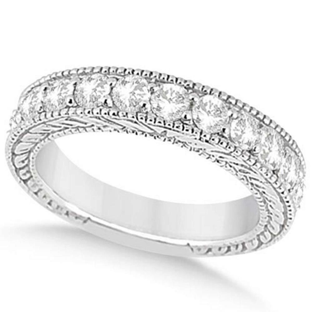 Antique Diamond Engagement Wedding Ring Band 18k White Gold (1.10ct) #PAPPS20837
