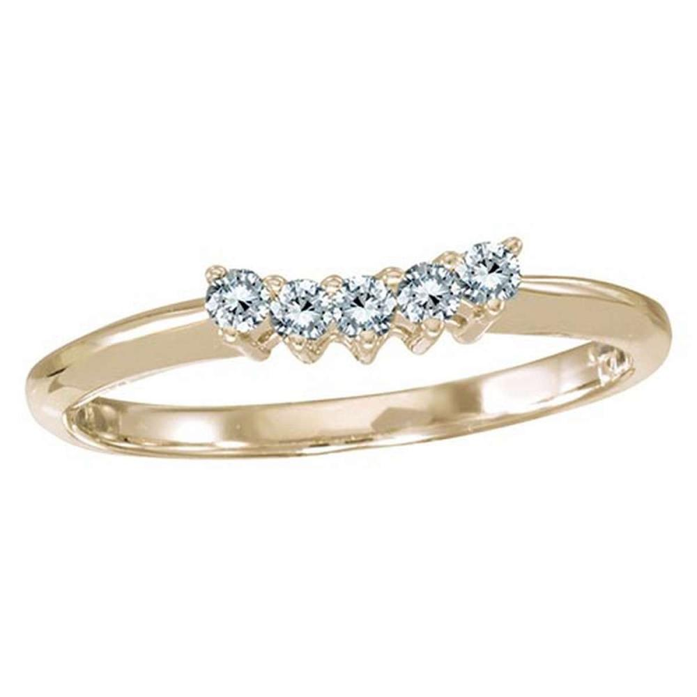 Lot 20161126: Certified 14k Yellow Gold 0.15 Ct Diamond Wrap Band #PAPPS51488