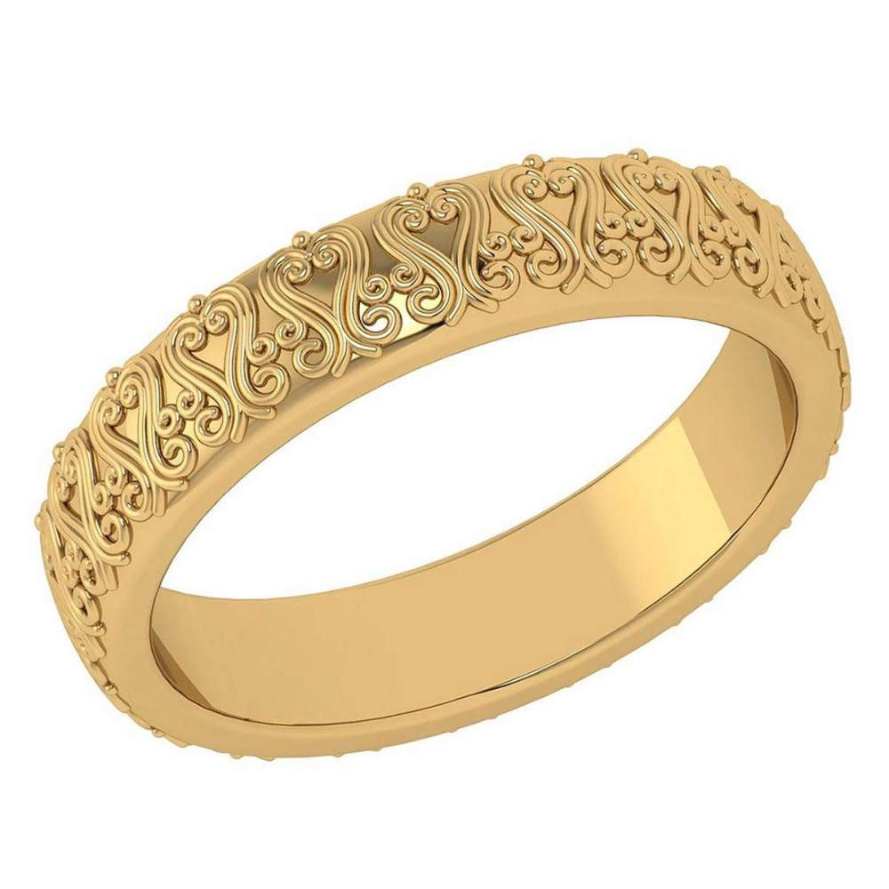 Lot 20161125: Stunning Filigree Engagement Band 18K Yellow Gold MADE IN ITALY #PAPPS21273
