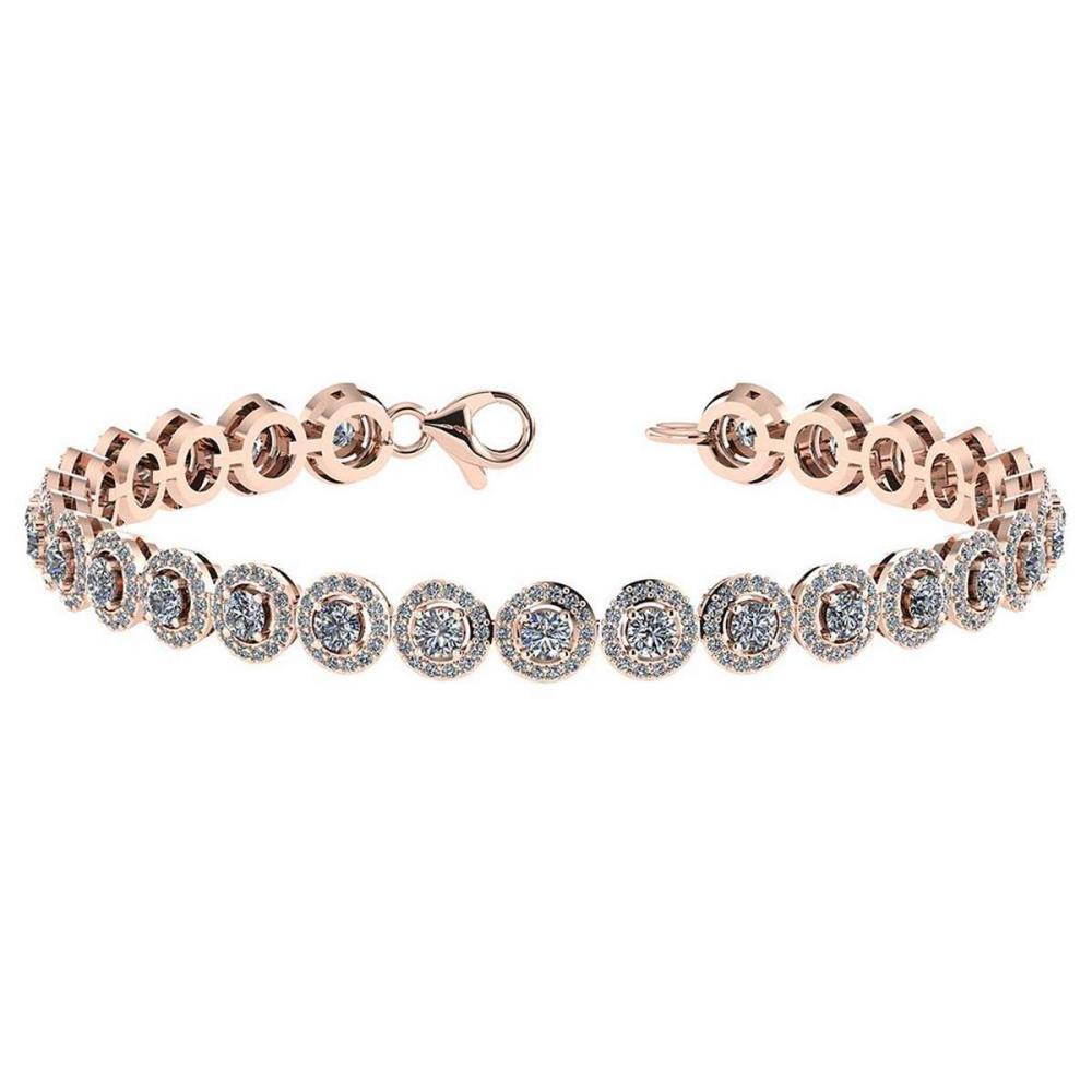 Lot 20161127: Certified 4.59 Ctw Diamond Bracelet VS/SI1 18K Rose Gold Made In USA #PAPPS21727