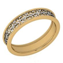 Lot 20161148: Stunning Filigree Engagement Band 18K Yellow And White Gold MADE IN ITALY #PAPPS21285