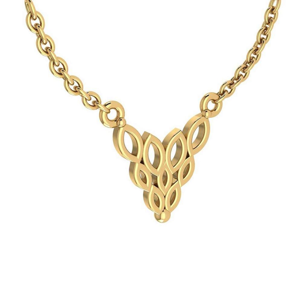 Lot 20161179: Gold Styles Leaf Necklace 18K Yellow Gold MADE IN ITALY #PAPPS21264