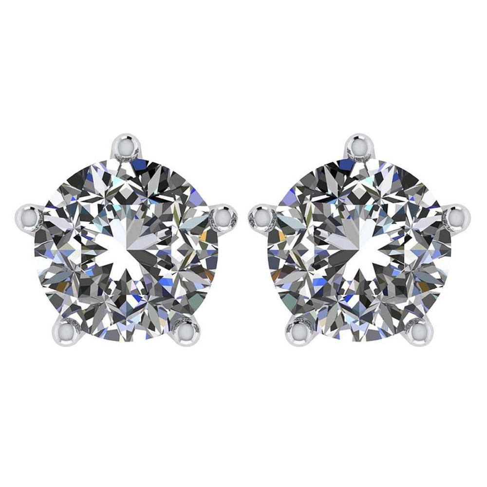 Lot 20161188: Certitifed 1.60 Ctw Round Diamond 14K White Gold Stud Earrings #PAPPS97120