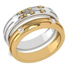 Lot 20161193: Gold MADE IN ITALY Bands For beautiful Couples 14k White And Yellow Gold MADE IN ITALY #PAPPS20314