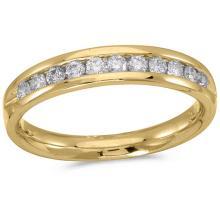 Certified 14K Yellow Gold Diamond Diamond Band Ring 0.5 CTW #51242v3