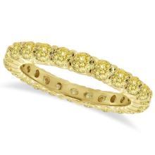 Fancy Yellow Diamond Eternity Ring Anniversary Band 14k Gold (1.07ct) #20664v3