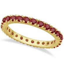 Ruby Eternity Band Stackable Ring 14K Yellow Gold (0.50ct) #20745v3